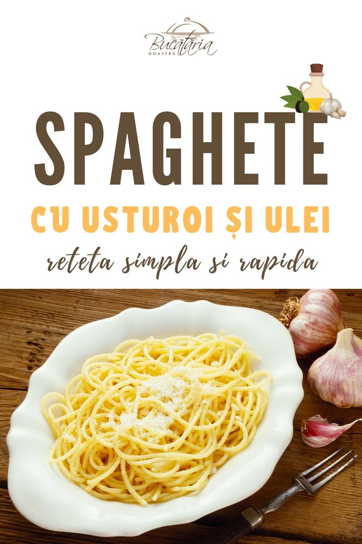 Spaghete cu Usturoi si Ulei - Aglio Olio Spaghetti