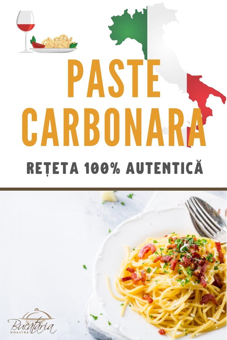 Reteta 100% autentica de paste carbonara ca in ITalia - BucatariaNoastra.ro