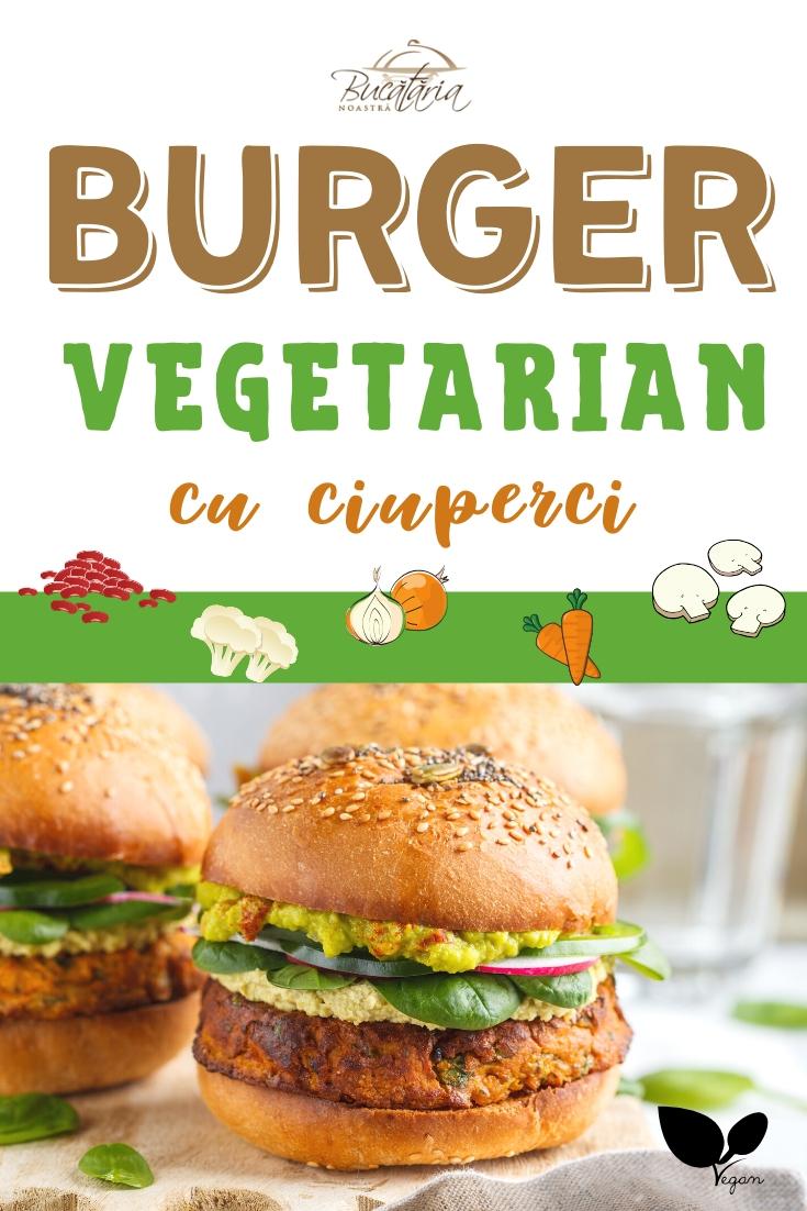Burger vegetarian reteta