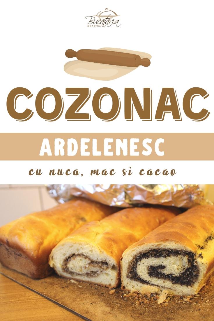 Reteta cozonac Ardeal - Cozonac cu nuca, mac si cacao din Ardeal