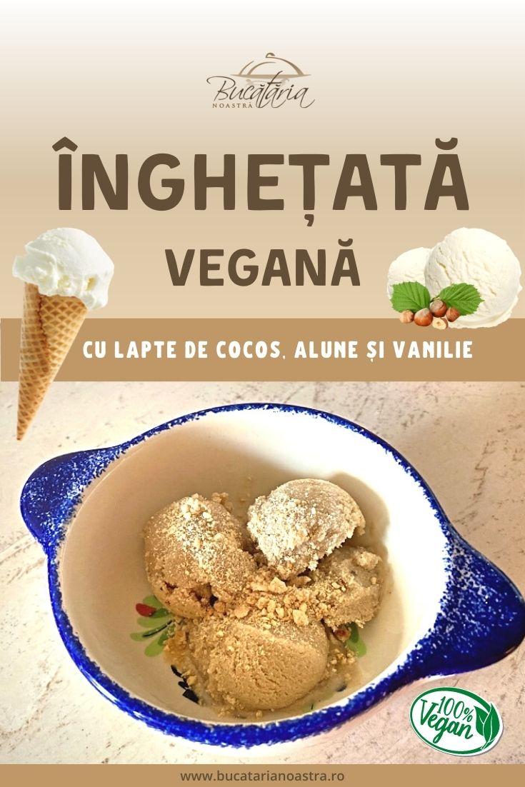 Înghețată vegană cu alune – rețetă fără zahăr – BucatariaNoastra.ro